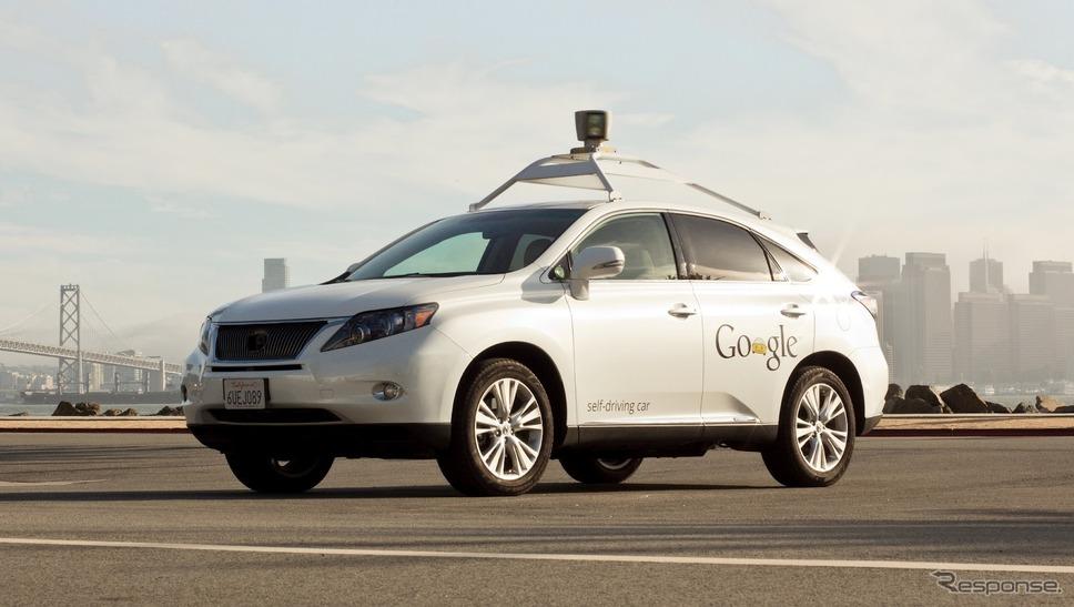 グーグルの自動運転テスト車、レクサスRX450h(参考画像)