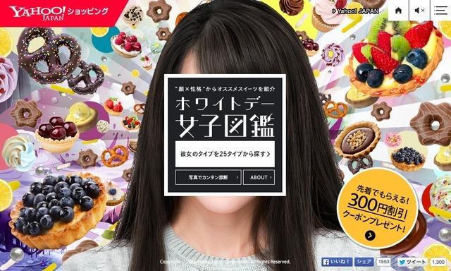 Yahoo!ショッピング『ホワイトデー女子図鑑』