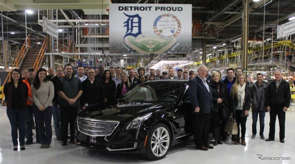 GMの米国ミシガン州デトロイトハムトラムク工場で生産が開始されたキャデラックCT6