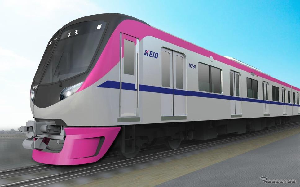 京王電鉄が導入する5000系の外観イメージ。2018年春に運行を開始する「座席指定列車」で運用される。