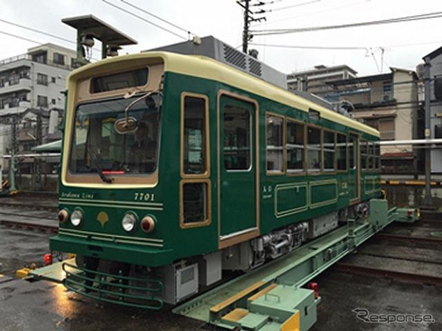 7000形を改修した7700形。5月から運行される。