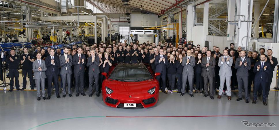 ランボルギーニ アヴェンタドールが累計生産5000台を達成