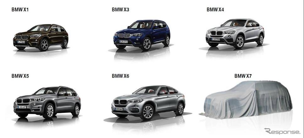 BMWが配信したX7の予告イメージ