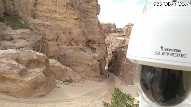 ヨルダンの世界遺産・ペトラ遺跡を保護するための監視システムとして採用された、台湾VIVOTEKの監視カメラソリューション(画像はプレスリリースより)