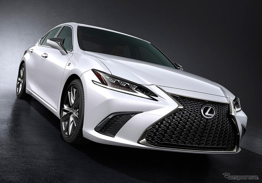 レクサス ES 新型発表、7世代目は新プラットフォーム採用…北京モーターショー2018   レスポンス ...