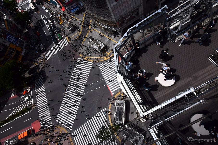 渋谷スクランブル交差点を見下ろすビュースポット誕生![動画追加 ...