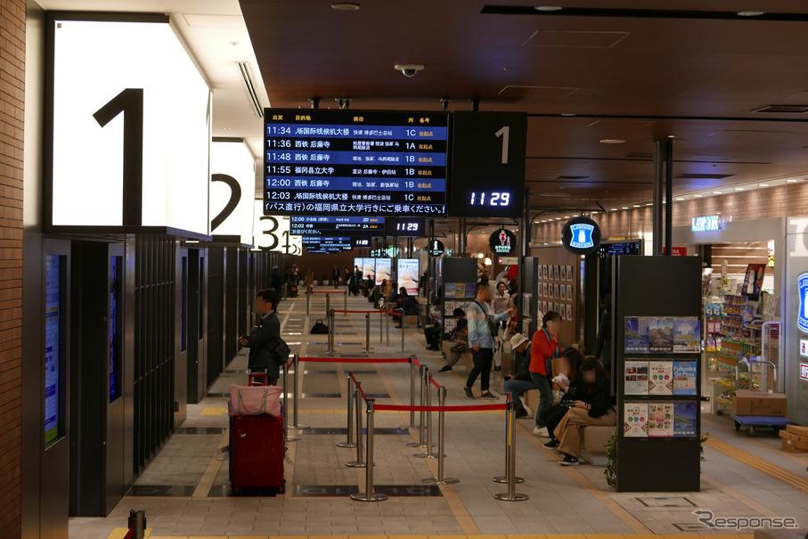 日本最大規模、西鉄天神高速バスターミナルを見る…ITS ...