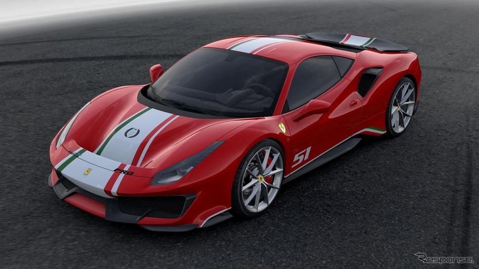 フェラーリ 488ピスタ にwecタイトル記念車 フェラーリのモーター