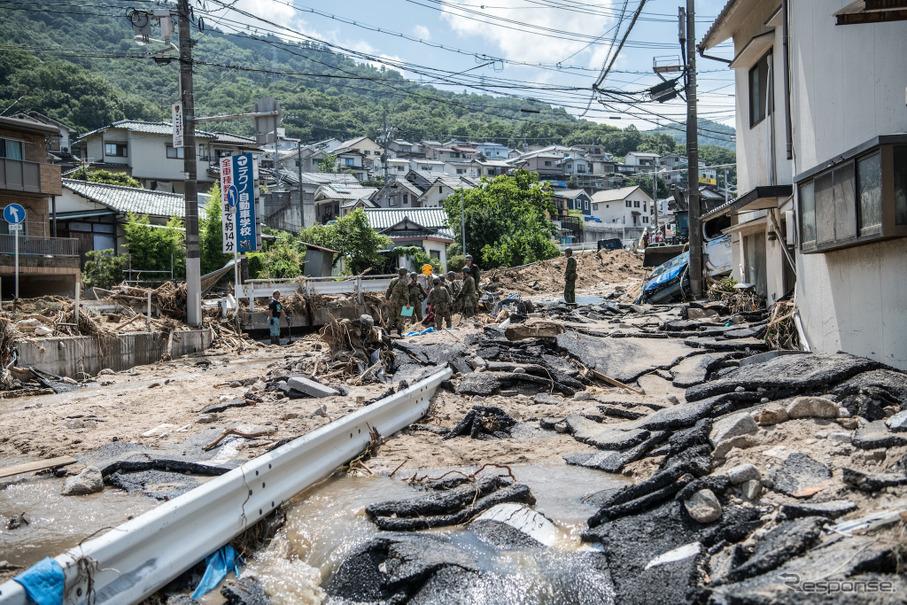 平成30年7月豪雨の道路状況---広島市と呉市を結ぶ国道31号が開通[7月 ...