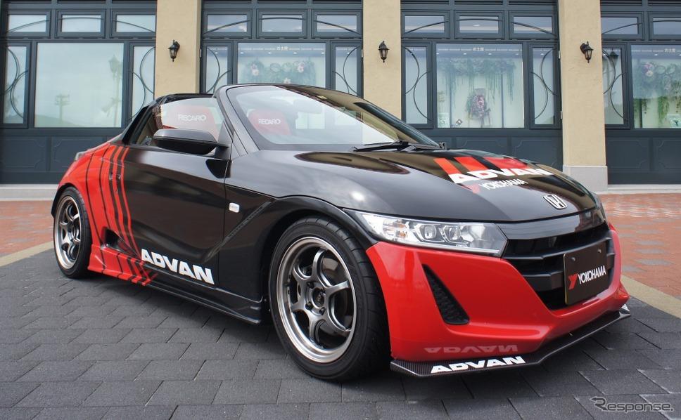 """""""Red in Black""""の「ADVAN」カラーをまとったホンダS660"""
