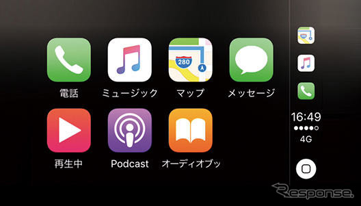 Apple CarPlay 画面
