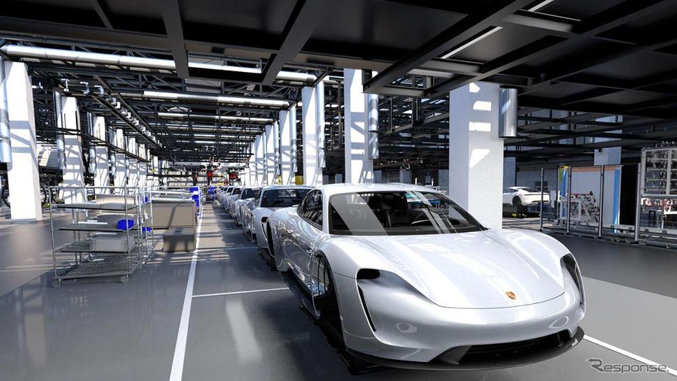 【ポルシェ】初の市販EV「タイカン」!! 718ボクスター&ケイマンに匹敵する需要を想定。