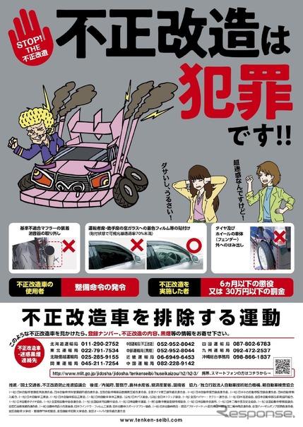 不正改造車を排除する運動強化月間、今回は違法マフラーを集中的に排除 ...