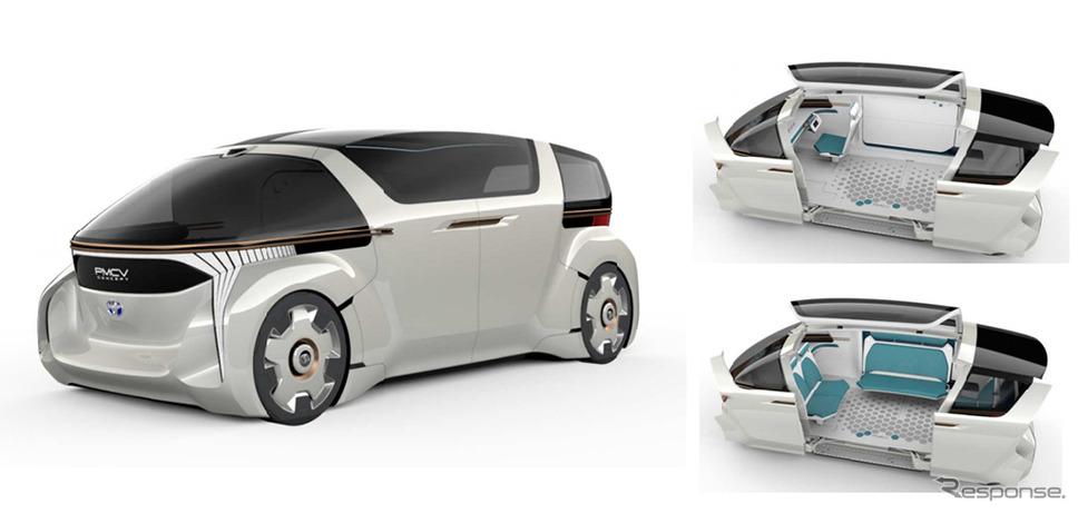トヨタ車体、2030年 ミニバンの新しいカタチを初公開\u2026東京