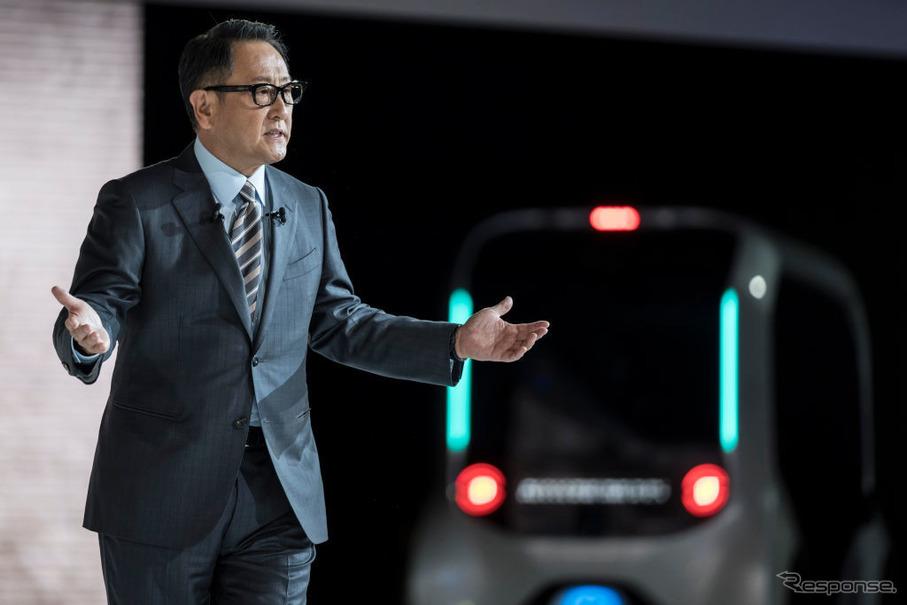 トヨタ 豊田社長「トヨタブースに来年発売するクルマはひとつも