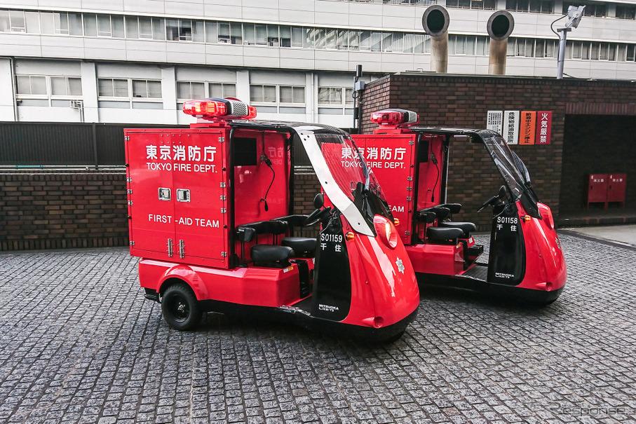 光岡3輪EV「ライク-T3 緊急自動車」、東京消防出初式で初公開 ...