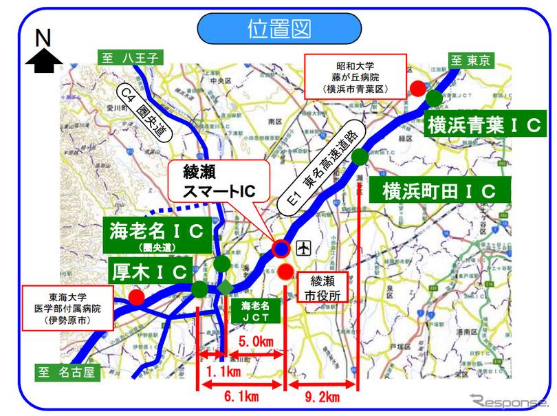 東名 横浜町田-厚木間の新スマートIC、正式名称「綾瀬スマート ...