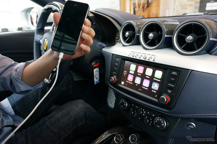 アップル「CarPlay」の実機デモンストレーション(WWDC 2014)