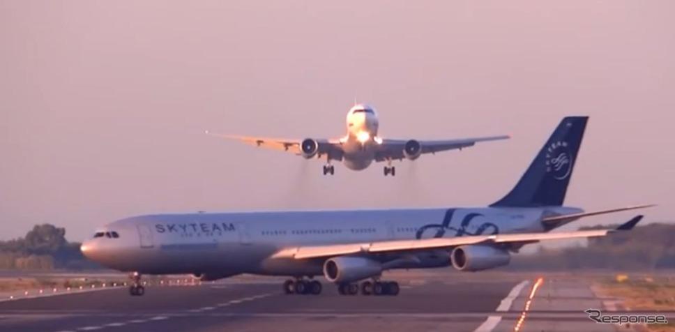 7月5日、スペイン・バルセロナのエル・プラット国際空港で起きたニアミス