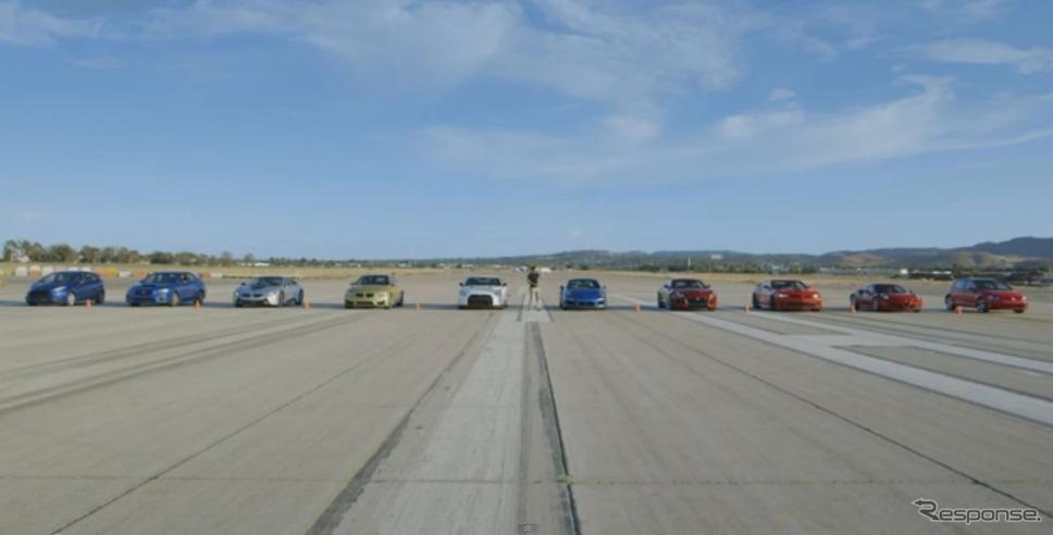 日産GT-Rニスモなど世界の10台の加速競争映像を公開した米『モータートレンド』