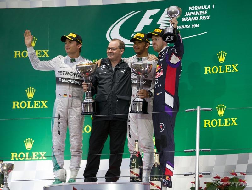 F1 日本GP 表彰式