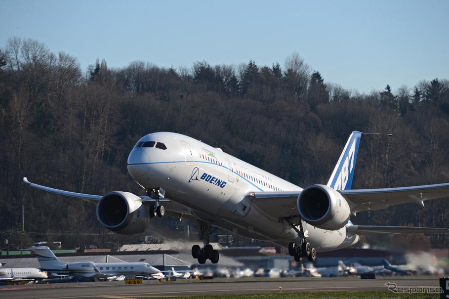 ボーイング、787でバイオ燃料「...