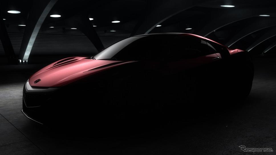 新型ホンダ (アキュラ)NSX の予告イメージ