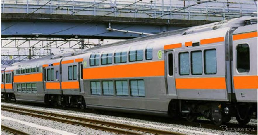 2020年度から中央快速線に導入する2階建てグリーン車のイメージ。首都圏の主なJR通勤路線は全てグリーン車が導入されることになる。