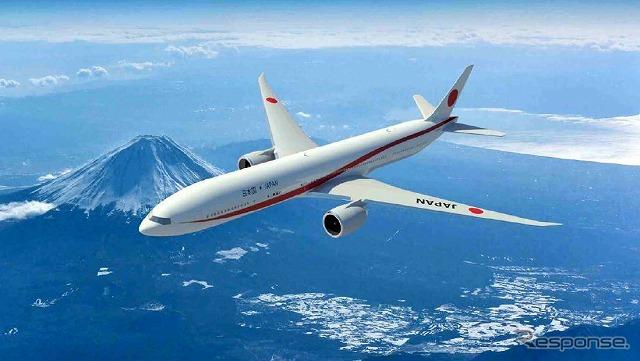 2019年度から導入されるボーイング777-300ER型をベースとした新しい政府専用機の外観デザインが決定。