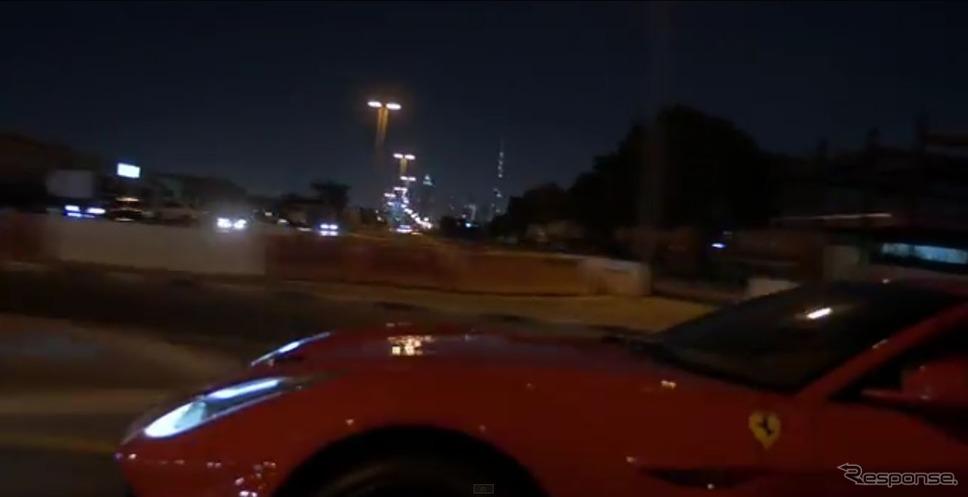 フェラーリ F12 ベルリネッタが中東ドバイで起こした事故の映像