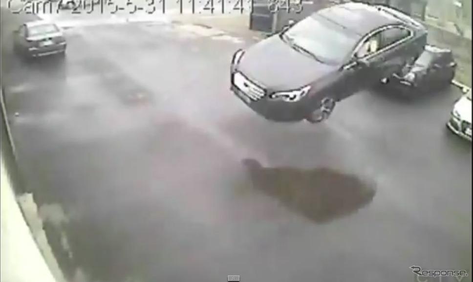カナダで起きたスバルレガシィの事故の映像を公開したカナダ『CTV』