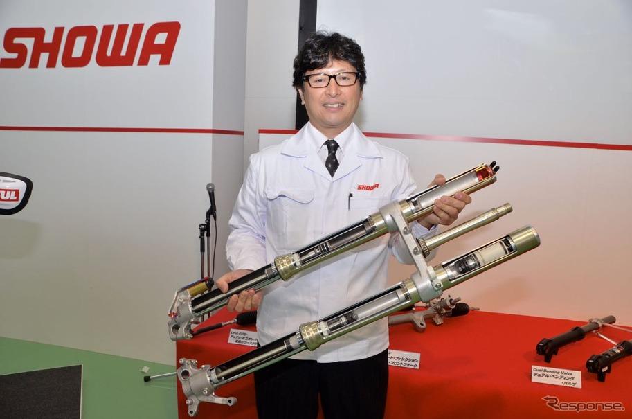 株式会社ショーワ開発本部二輪サス開発部部長、梶野 勉さん。