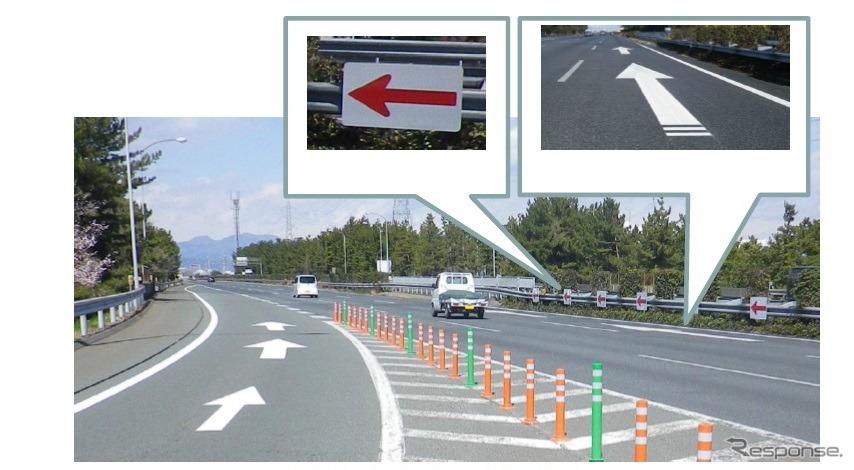 本線合流部の対策事例(関越道・高崎IC)