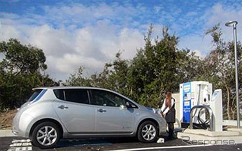 山陽自動車道 淡河PAの急速充電設備