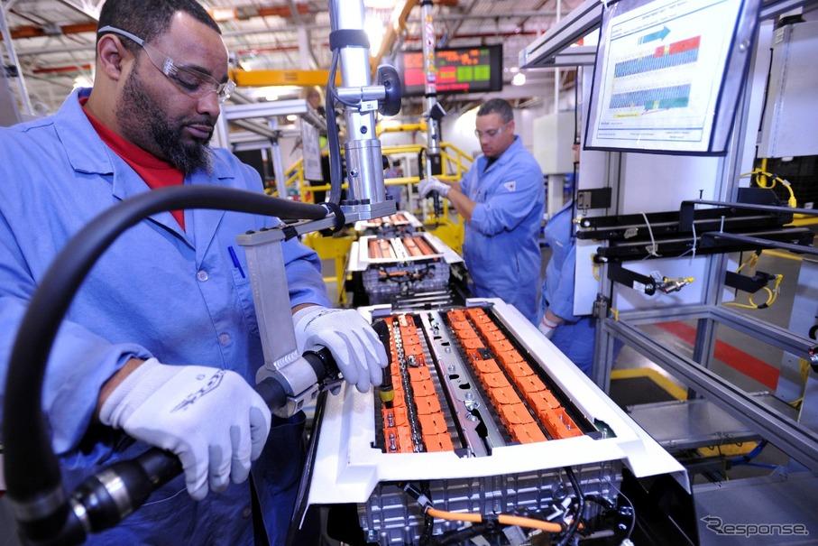 フォードモーターのバッテリー工場