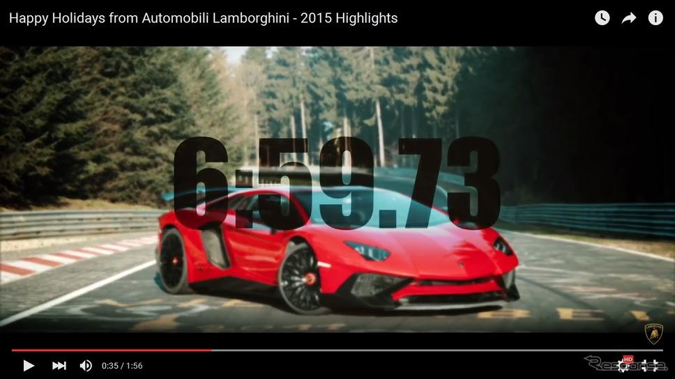 ランボルギーニの2015年総集映像