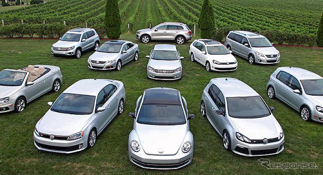 米国で幅広い車種にターボディーゼルの「TDI」を設定するフォルクスワーゲン(参考画像)