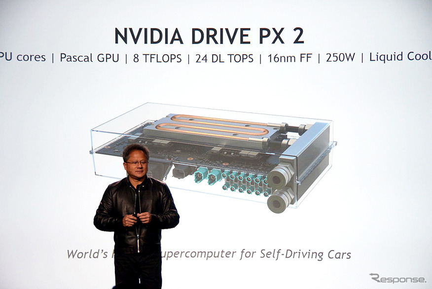NVIDIA、自動運転車用CPU「DRIVE PX 2」を発表(CES16)
