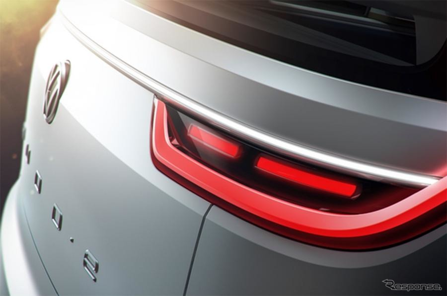 VWのEVコンセプトカー、「BUDD.e」の予告イメージ