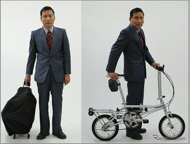 自転車の 折りたたみ自転車 電車 : もラクラクな折りたたみ自転車 ...