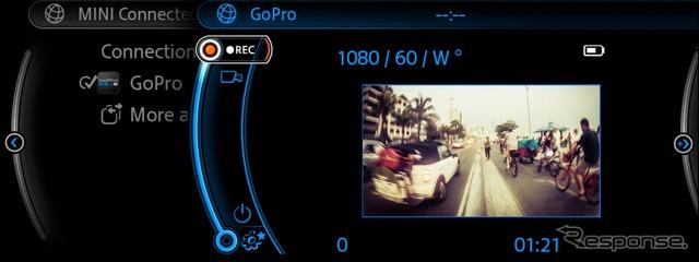 MINIとGoPro カメラの連携イメージ