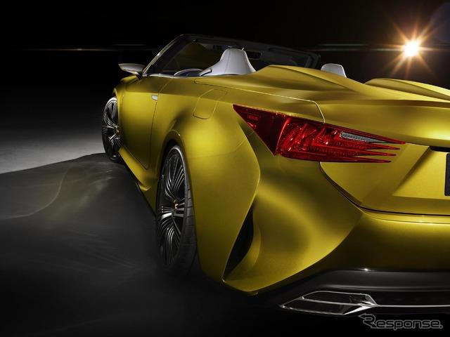 LEXUSが超下品な4シーターオープンカーを公開 こんなのボディコンでも着ないと乗れないよお!