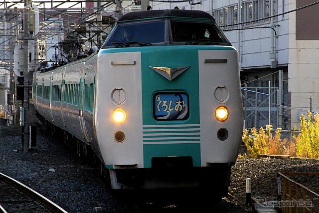 南紀・北近畿地区の特急で運用されてきた旧国鉄時代製造の381系は289系の投入により順次廃車される。写真は南紀地区の381系。