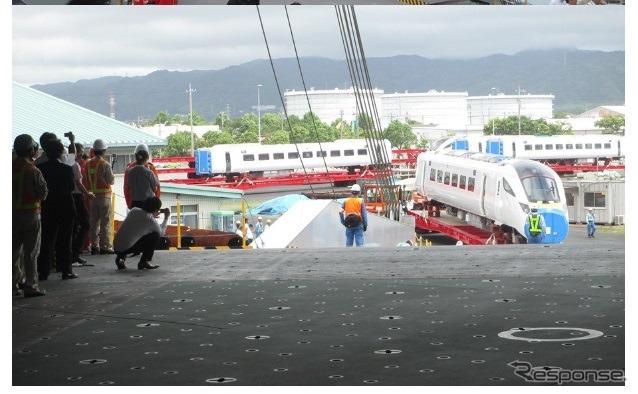 川崎汽船がRORO船で英国向け都市間高速鉄道を輸... 【画像】川崎汽船、日立の英国向け都市間高
