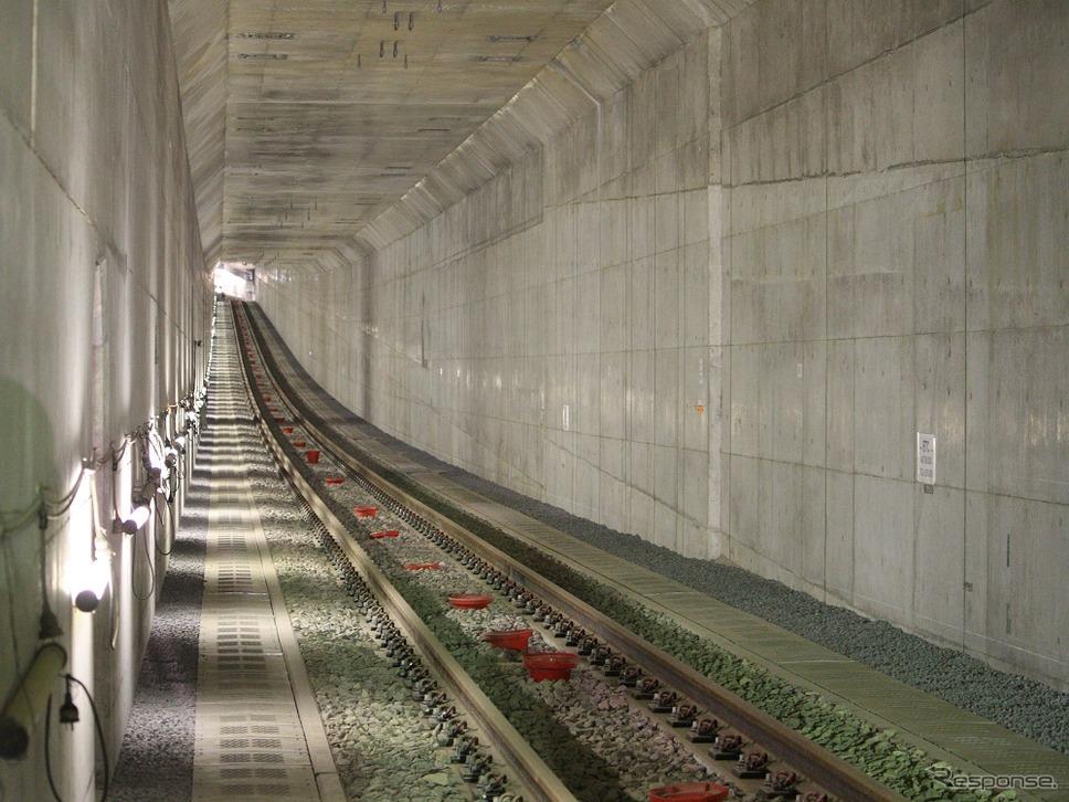 小田急電鉄、複々線化のトンネル工事現場を公開…2018年度の事業完成目指す 6枚目の写真・画像