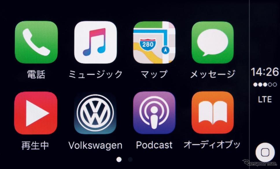 """VW e-ゴルフ コネクティビティ機能""""App-Connect"""