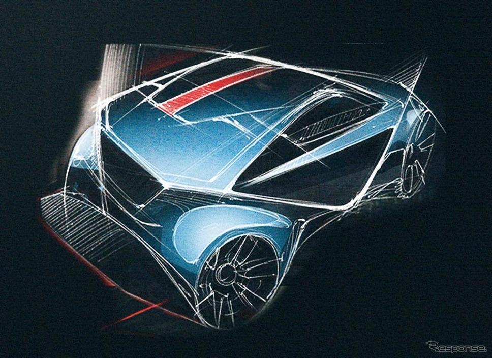 トヨタC-HRのデザインスケッチ