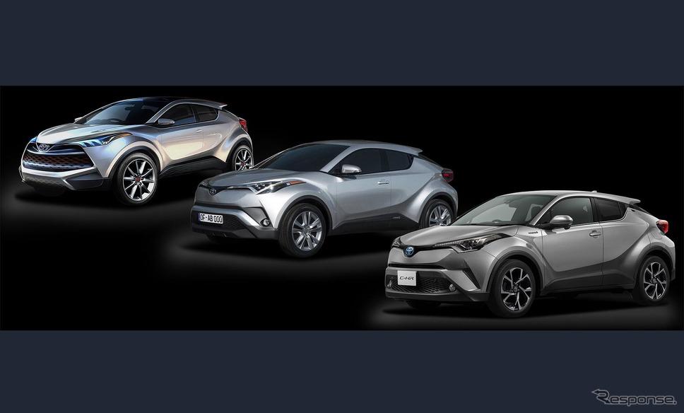 トヨタC-HRのデザインの変遷