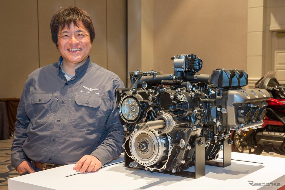 新型ゴールドウイング開発責任者・中西豊さん(本田技術研究所二輪R&Dセンター主任研究員)