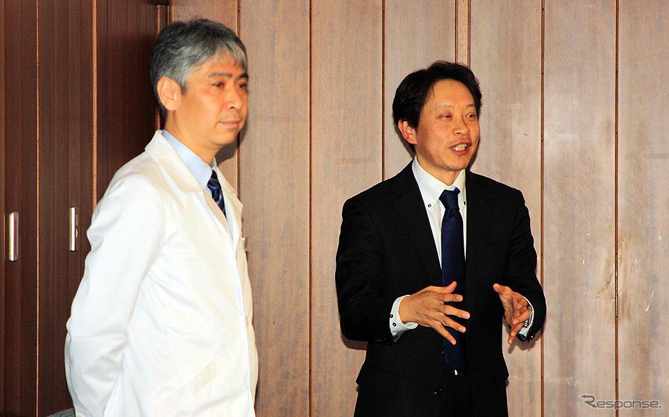 WILLER EXPRESS JAPAN 平山幸司代表取締役(右)とメディカルチェックスタジオ東京銀座クリニック知久正明院長